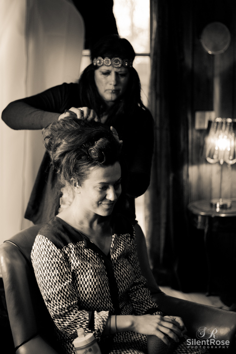 Hair being done by the HMUA