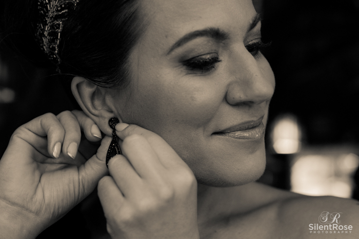 Brooke showing her stunning earrings