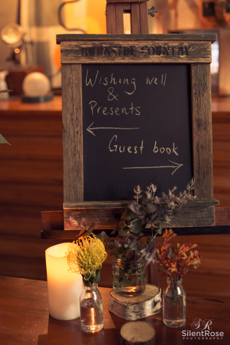Wishing Well, presents this way, guest book that way