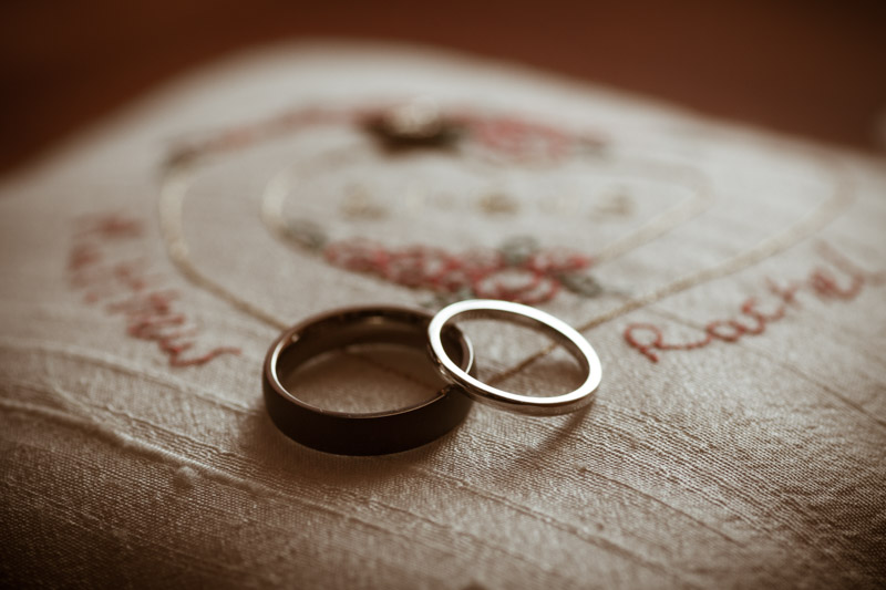 WEDDING RING ON RING BEARER CUSHION