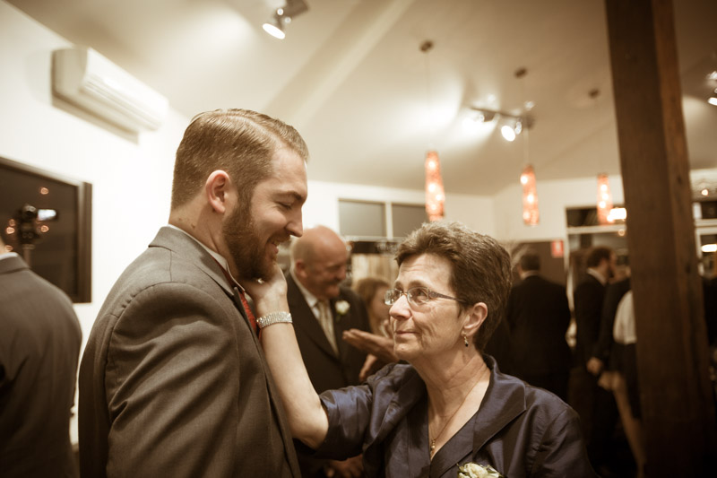 Mother inlaw tender moment with Matthew - Groom