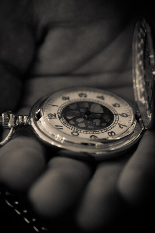 Close up of pocket watch